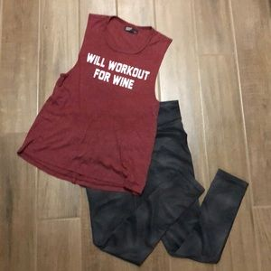 Tops - Will workout for wine tank